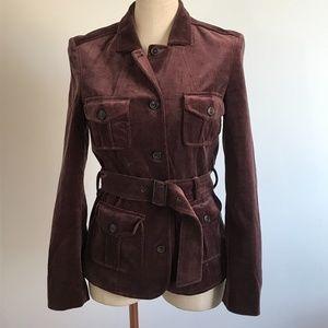 HOST PICK - Hugo Boss Velvet jacket plum color- S